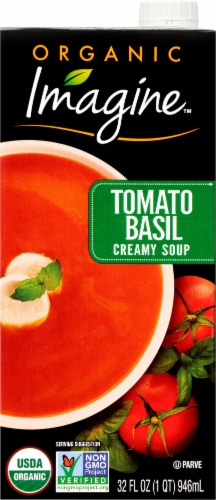 Imagine Organic Creamy Tomato Basil Soup Perspective: front