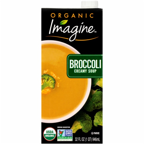 Imagine Organic Broccoli Creamy Soup Perspective: front