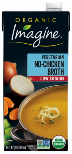 Imagine Organic No-Chicken Broth Low Sodium Perspective: front
