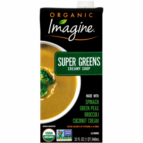 Imagine Organic Super Greens Creamy Soup Perspective: front