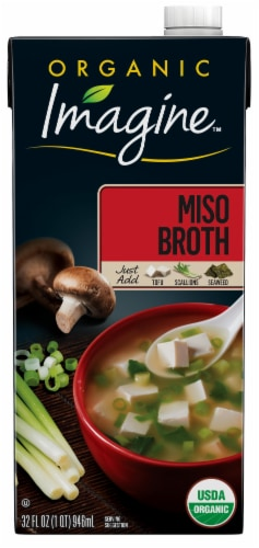 Imagine Organic Miso Broth Perspective: front