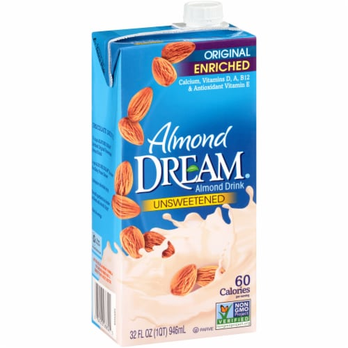 Imagine Almond Dream Original Unsweetened Almond Drink Perspective: front