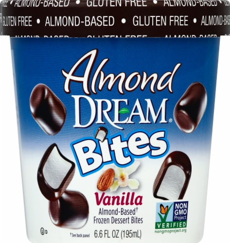 Almond Dream Bites Vanilla Almond-Based Frozen Dessert Bites Perspective: front