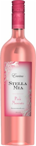 Evviva Stella Mia Pink Moscato Perspective: front