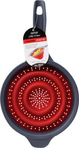 ATA Retail Collapsible Strainer - Red/Black Perspective: front