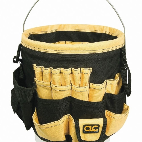 Clc Bucket Tool Organizer,Polyester,Yellow  4122 Perspective: front