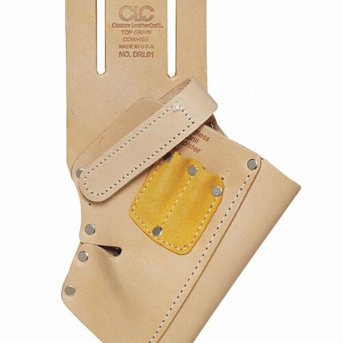 Custom Leathercraft 45 Degree Cordless Drill Holster DRL91 Perspective: front