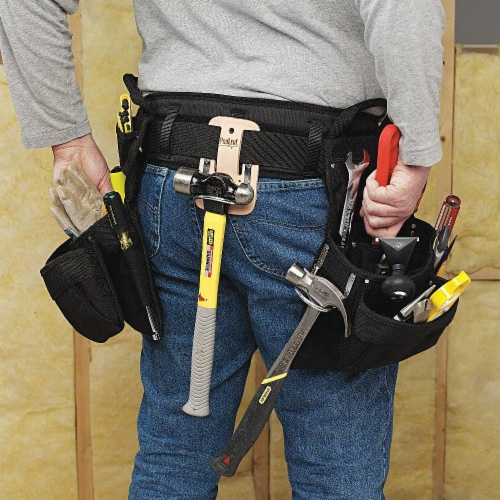 Clc Black,Tool Belt,Polyester Perspective: front