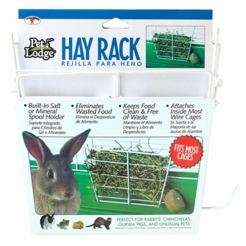 Miller Manufacturing 405031717 153171 Wire Rabbit Hay Rack Fits for Most Wire Cages Perspective: front