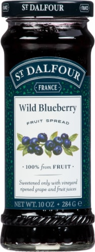 St. Dalfour Wild Blueberry Fruit Spread Perspective: front