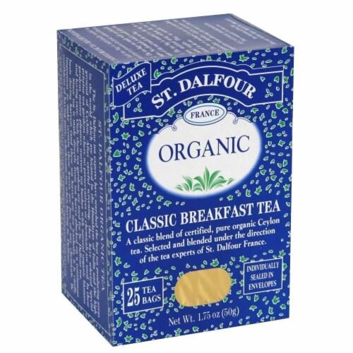 St Dalfour Organic Classic Breakfast Tea - 25 Tea Bags Perspective: front