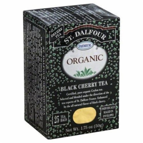 St Dalfour Black Cherry Black Tea Perspective: front