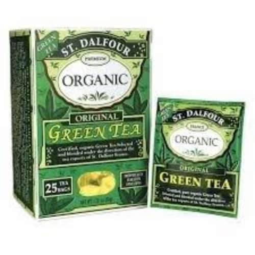 St Dalfour Organic Original Green Tea - 25 Tea Bags Perspective: front