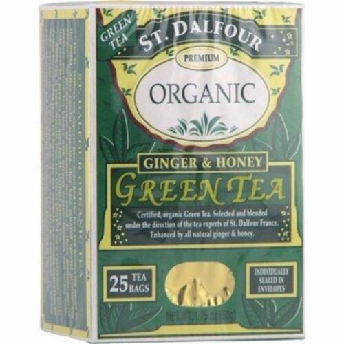 St Dalfour Ginger and Honey Green Tea Perspective: front
