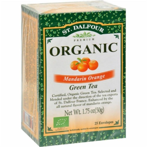 St Dalfour Mandarin Orange Green Tea Perspective: front