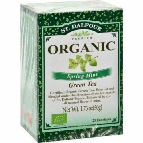 St Dalfour Spring Mint Green Tea Perspective: front