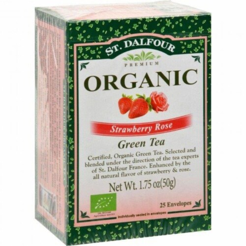 St Dalfour Strawberry Rose Green Tea Perspective: front
