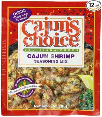 Cajun's Choice Cajun Shrimp Seasoning Mix Perspective: front