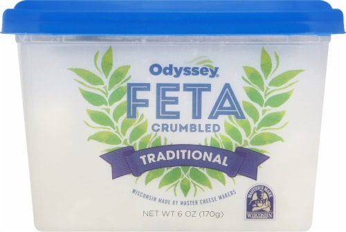 Odyssey Traditional Crumbled Feta Cheese Perspective: front