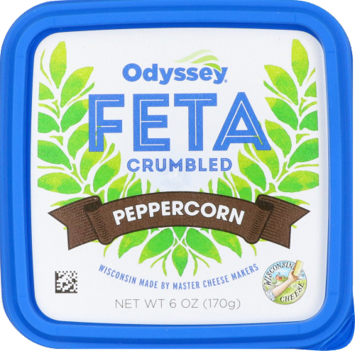 Odyssey Peppercorn Crumbled Feta Cheese Perspective: front