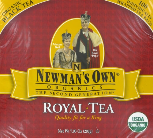 Newman's Own Organic Royal Black Tea Perspective: front