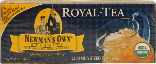 Newman's Own Organics Royal Tea Family Size Perspective: front