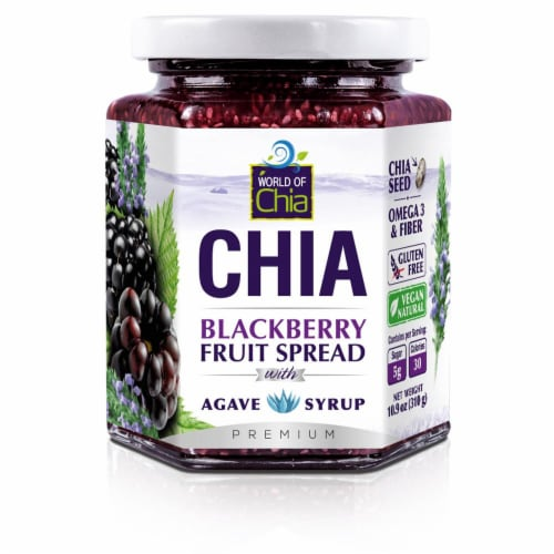 World of Chia Blackberry Spread Perspective: front