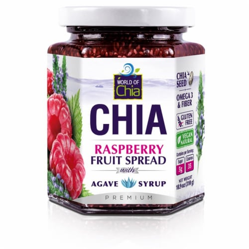 World of Chia Raspberry Spread Perspective: front
