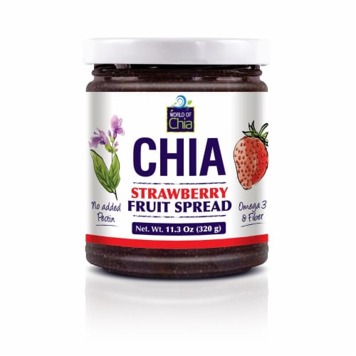 World Of Chia Strawberry Spread Standard Perspective: front