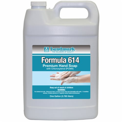 Lundmark Formula 614 Unscented Scent Antibacterial Liquid Hand Soap Refill 1 gal. - Case Of: Perspective: front