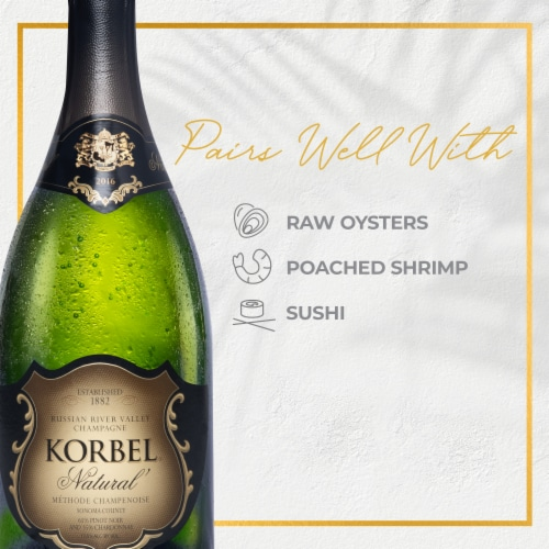 Korbel Natural Sparkling Wine California Champagne Perspective: front