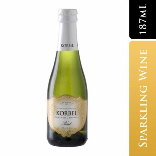 Korbel Brut Sparkling Wine California Champagne Perspective: front