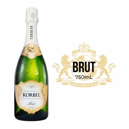 Korbel Brut California Champagne Perspective: front