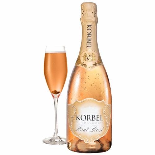 Korbel Brut Rose Sparkling California Champagne Perspective: front