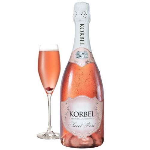 Korbel Sweet Rose Sparkling California Champagne Perspective: front