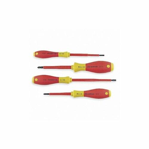Wiha Tools Insulated Screwdriver Set, NmPcs4  32090 Perspective: front
