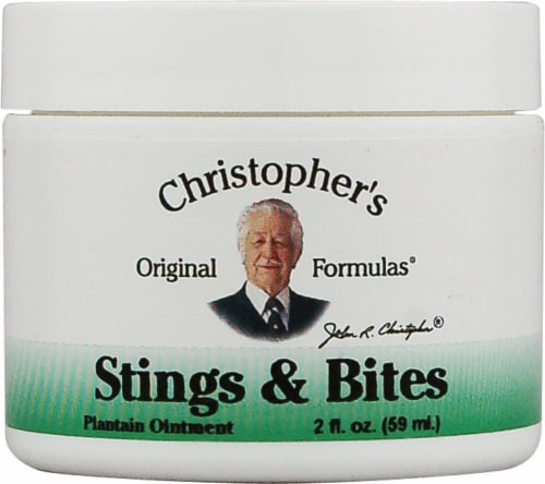 Christopher's Stings and Bites Plantain Ointment Perspective: front