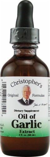 Christopher's Oil of Garlic Extract Drops Perspective: front