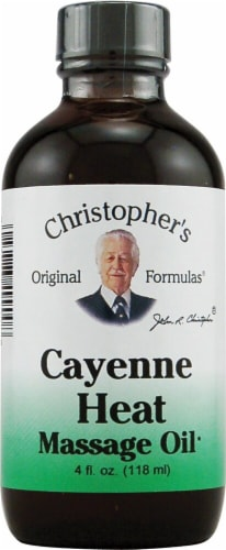 Christopher's Cayenne Heat Massage Oil Perspective: front