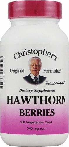 Christopher's Hawthorn Berries Vegetarian Caps 540mg Perspective: front