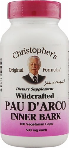 Christopher's Pau D'Arco Vegetarian Caps 500mg Perspective: front