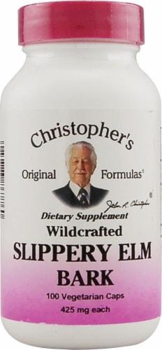 Christopher's Slippery Elm Bark Vegetarian Capsules 425 mg Perspective: front