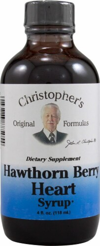 Christopher's Hawthorn Berry Heart Syrup Perspective: front