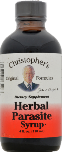 Christopher's Herbal Parasite Syrup Perspective: front