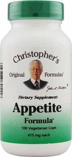 Christopher's Appetite Formula Vegetarian Caps 475mg Perspective: front