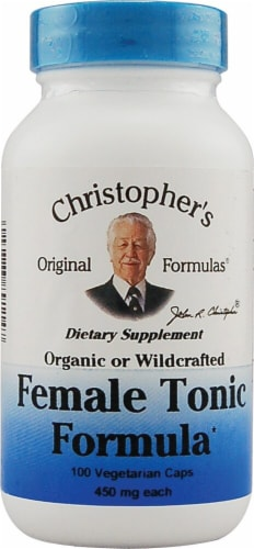 Christopher's Female Tonic Formula Vegetarian Caps 450mg Perspective: front