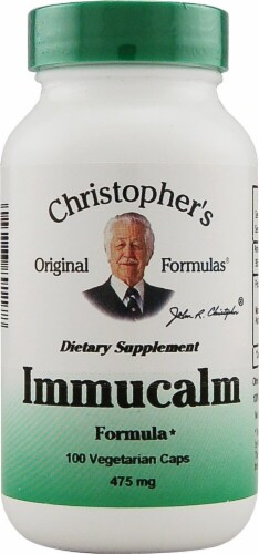 Christopher's Immucalm Vegetarian Caps 475mg Perspective: front
