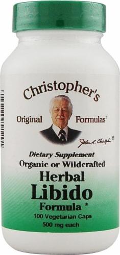 Christopher's Herbal Libido Formula Vegetarian Capsules 500 mg Perspective: front