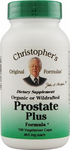 Christopher's Prostate Plus Formula Vegetarian Caps 465mg Perspective: front