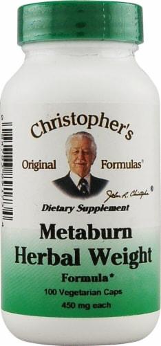 Christopher's Metaburn Herbal Weight Formula Vegetarian Caps 450mg Perspective: front